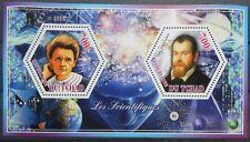 SCIENTISTS Marie Curie Sklodowska Galileo Galilei LUX-sheet Tchad 2014 MNH #113