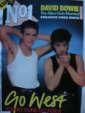 NO 1 (NUMBER ONE) MAGAZINE 1/6/85 - GO WEST - DURAN DURAN - DAVID BOWIE