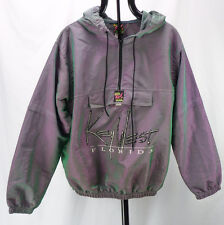 Vintage 90s SURF STYLE Iridescent Purple/Green Key West Florida Windbreaker OS