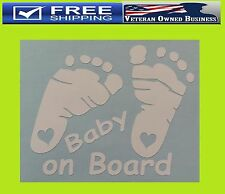 BABY FEET PRINT ON BOARD DECAL STICKER VINYL Boy Girl Cute Euro Illest Lowered