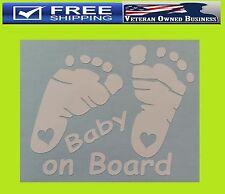 BABY FEET PRINT ON BOARD DECAL STICKER VINYL Boy Girl Cute Euro Illest Lowered