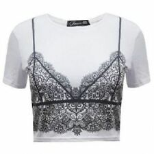 Women's Fitted Polyester No Pattern Crew Neck Tops & Shirts