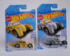 Hot Wheels 2019 VW Volkswagen Kafer Racer Mooneyes Lot of 2 Yellow Zamac