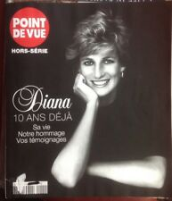 Princess Diana RARE Point de Vue France Magazine 10 yr death tribute with photos