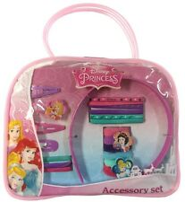 NEW OFFICIAL DISNEY PRINCESS GIRLS 20 PIECE HAIR ACCESSORY SET IN BAG CLIPS
