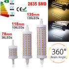 Dimmable R7S J78 J118 J135 2835 SMD LED Ampoule Lampe Flux Remplacement Halogène
