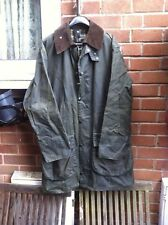 """Barbour Border green wax cotton Country Designer jacket size 42"""""""
