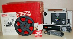 EUMIG MARK 610D 8mm / Super 8 Dual 8 Silent Motion Picture Projector, WORKS!