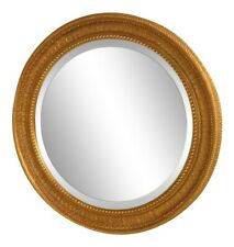 39438: Friedman Brothers #6802 Round Convex Glass Gold Frame Large Mirror ~ New