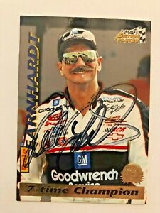 Dale Earnhardt Sr NASCAR 1996 Action Packed 7-Time Champion Autographed Signed