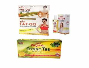 Combo Pack-Fat Go Capsules, Fat Go Oil And Green Tea Sachest For Weight Loss-AU