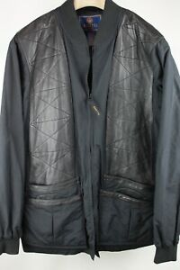 Beretta Black Quilted Leather Panel & Nylon Multi Pocket Shooting Field Jacket L