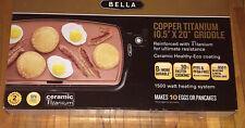Bella Nonstick Copper Titanium Electric Griddle -10x16