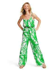 NWT Lilly Pulitzer Green Boom Boom Tropical Jumpsuit Medium