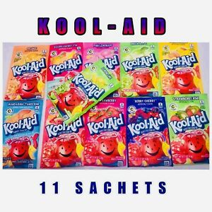 Kool Aid Sachets American Candy Sweets x11 Sachets Drink Mix Unsweetened New