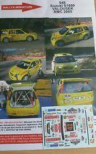 DECALS 1/43 REF 948 SUZUKI IGNIS S1600 VALOUSEK RALLYE MONTE CARLO 2005 RALLY