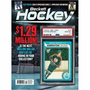 New February 2021 Beckett Hockey Card Price Guide Magazine With Wayne Gretzky