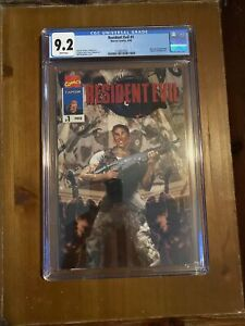 RESIDENT EVIL#1 (Capcom Rare Giveaway) CGC 9.2 W/P Press Candidate! Marvel!