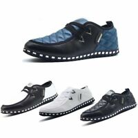 New Men's Casual Leather Shoes Formal Dress Driving Loafers Lazy Shoe Lot