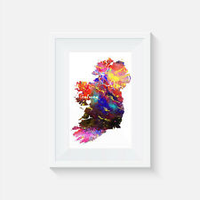 Ireland Galway, watercolour, print, poster, picture, quote, wall art, home decor