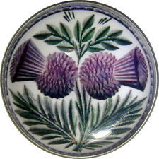 """Crystal Dome Button Scottish Double Thistle  Lg Size 1 & 3/8""""  # 03"""