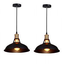 2 Vintage Industrial Ceiling Light Metal Shade Loft Bar Kitchen Hanging Pendant