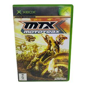 MTX Mototrax for Microsoft Xbox Original w Manual - Tested & Working