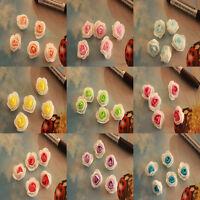 Wholesale!50-500pcs Double Color Simulation Flowers Beautiful Silk Flower
