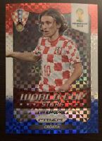 2014 Panini World Cup Stars Luka Modric Blue/White/Red Pulsar Prizm/Refractor