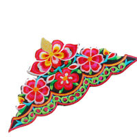 Ethnic Patches Adhesive Iron on Embroidery Flower Applique DIY Clothing Decor