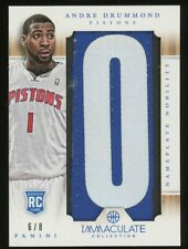 2012-13 Immaculate Nameplate Nobility Andre Drummond RC Rookie GU Patch 6/8