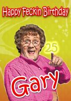 PERSONALISED MRS BROWNS BOYS BIRTHDAY CARD