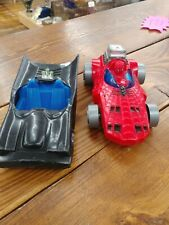 MEGO 1980 BATMOBILE VEHICLE & 1977 SPIDERMAN REMOTE CONTROL CAR (BOTH)