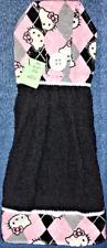 **NEW** Handmade Hello Kitty Argyle  Kitchen Hand Towel #954