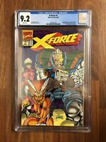 RARE MARVEL COMICS X-FORCE 1 CGC 9.2 CABLE WRAPAROUND COVER LIEFELD NICIEZA