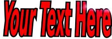 "2''h x 8""w two color  CUSTOM VINYL LETTERING/TEXT - Window, Car  15 colors"