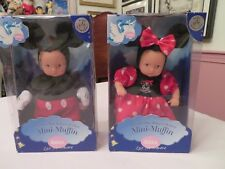 Gotz Minnie and Mickey Mouse Theme Park Exclusive Mini-Muffin Baby Dolls Nib
