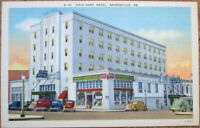 Gainesville, GA 1940s Linen Postcard-Dixie Hunt Hotel & Drug Store/Soda Fountain