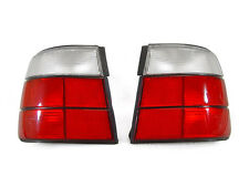 DEPO Euro Red/Clear Lens Tail Lights Rear Lamps For 1989-96 BMW E34 4D 4DR Sedan