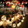 G40 Lichterkette Glühbirnen Garten mit 25 Birnen Außen/Innenbeleuchtung Warmweiß