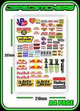 JDM SLOT CAR STICKER SHEET SCALEXTRIC PLAFIT 1/18 1/24 SLOTCAR RACING DECAL