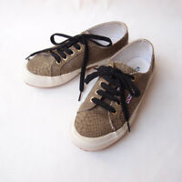 SUPERGA Size 36 / 6 2750 Faux Reptile Snake Brown Canvas Sneakers Trainers Shoes