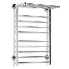 Stainless Steel Heated Towel Rail Warmer Clothes Electric 14 Bar Rack Bathroom