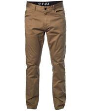 Fox Stretch Chino Pants Beige Mens 33X32 New