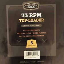 CBG - 33 RPM Top Loader - 5 Count - Cardboard Gold Rigid Plastic 13-1/2 x 13-1/8