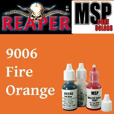 FIRE ORANGE 9006 - MSP 15ml 1/2oz paint pot peinture figurine REAPER MINIATURE