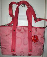 Adorable Coach Daisy Signature Tote Handbag in Pomegranate Pink  #16559