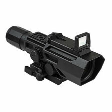NcStar GEN3 ADO 3-9X42 42mm Blue/Red Ill P4 Sniper w/Flip Up Red Dot Rifle Scope