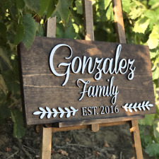"12"" x 24"" Family last name Personalized wood sign"
