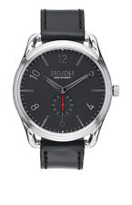 **BRAND NEW** NIXON WATCH THE C45 LEATHER BLACK / RED A465008 NEW IN BOX!